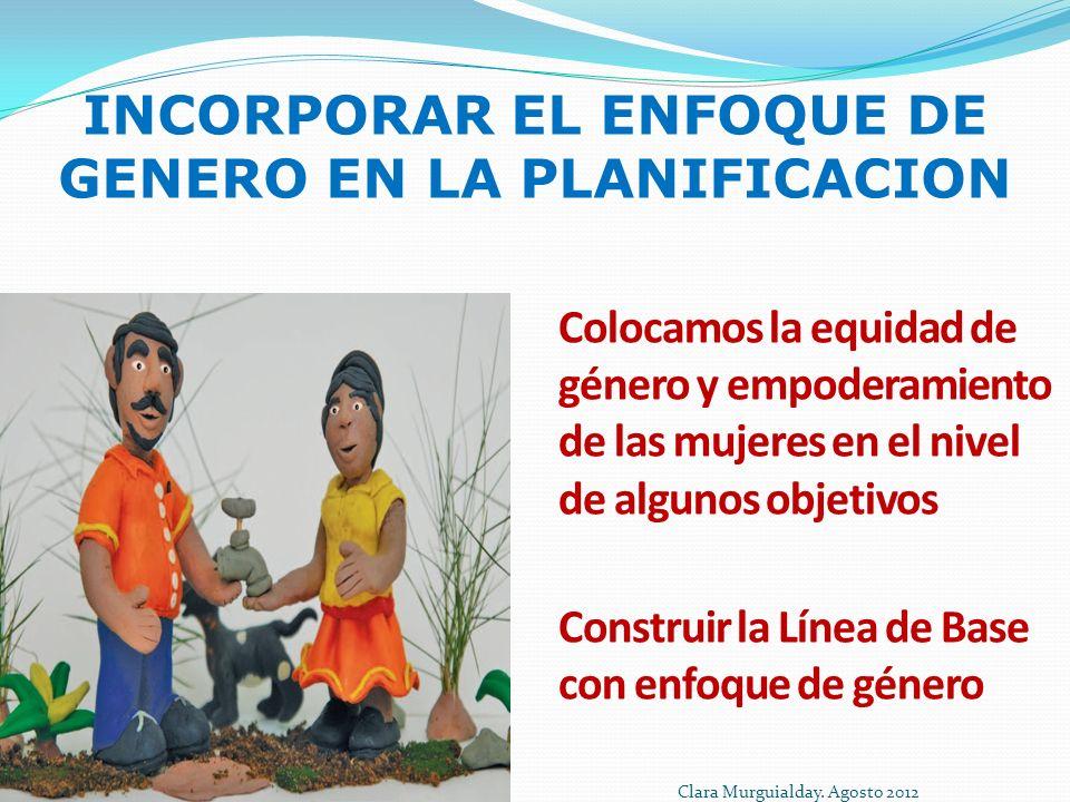 INCORPORAR EL ENFOQUE DE GENERO EN LA PLANIFICACION