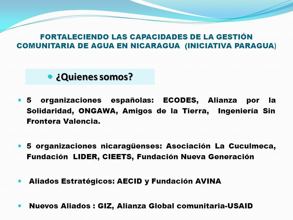 FORTALECIENDO LAS CAPACIDADES DE LA GESTIÓN COMUNITARIA DE AGUA EN NICARAGUA (INICIATIVA PARAGUA)