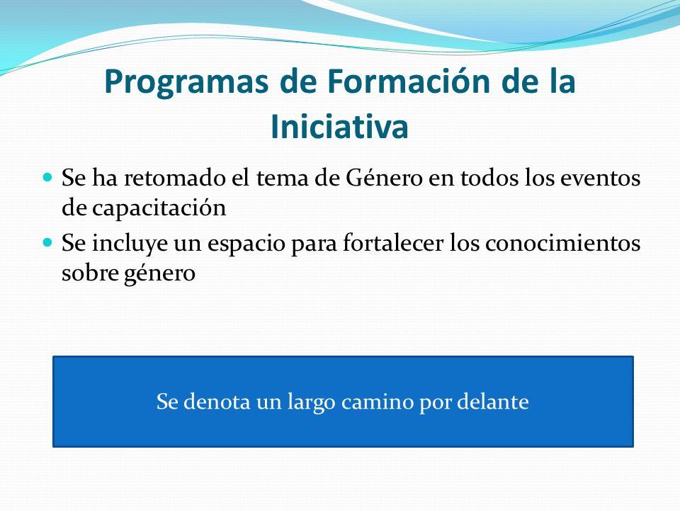 Programas de Formación de la Iniciativa