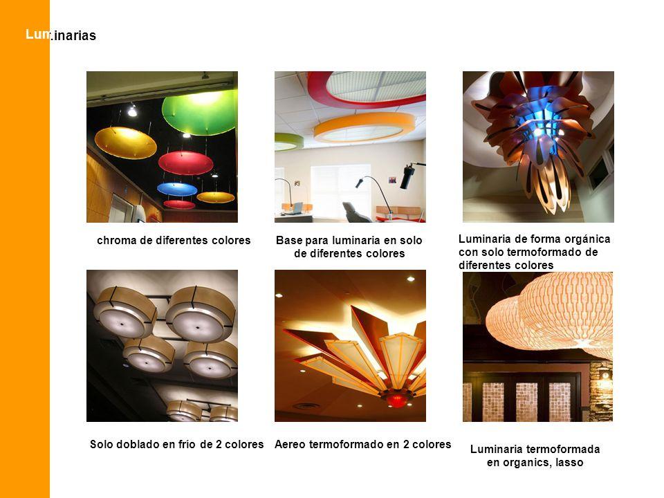 Lum luminarias chroma de diferentes colores