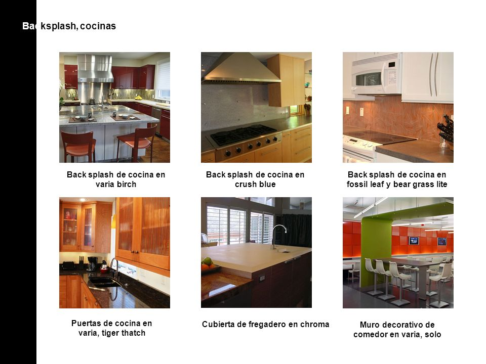 Bac Backsplash, cocinas Back splash de cocina en varia birch