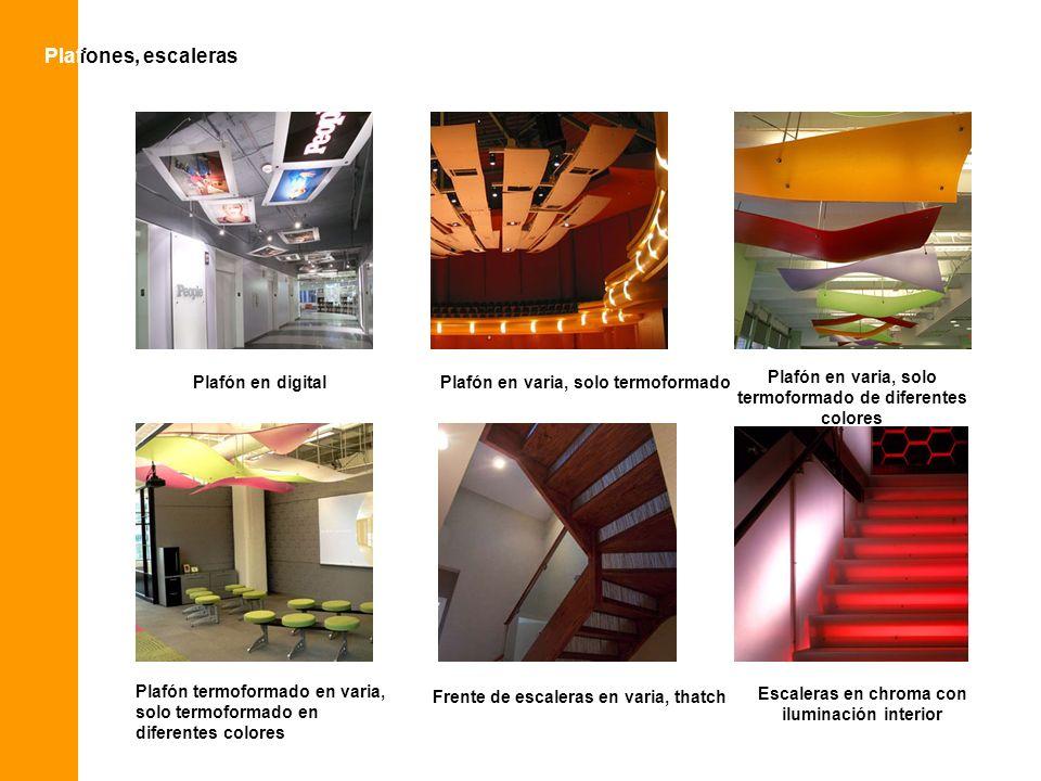 Plaf Plafones, escaleras Plafón en digital