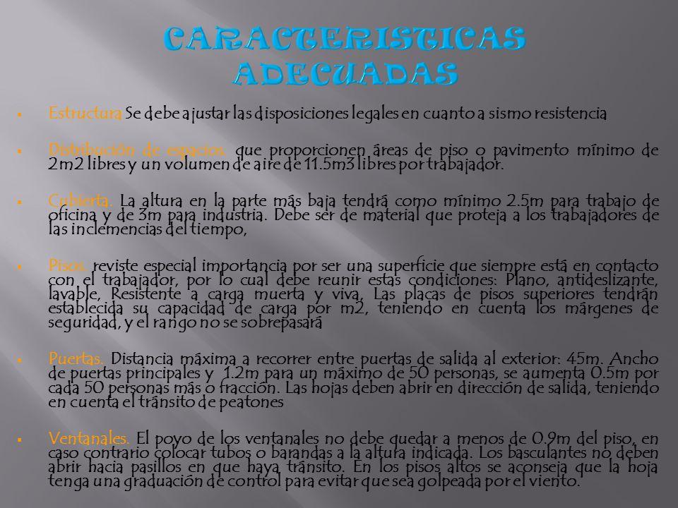 CARACTERISTICAS ADECUADAS