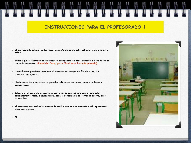 INSTRUCCIONES PARA EL PROFESORADO 1