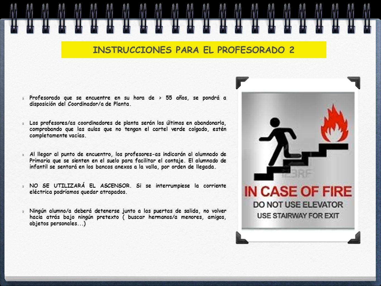INSTRUCCIONES PARA EL PROFESORADO 2