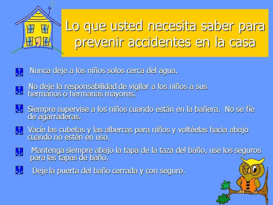 Lo que usted necesita saber para prevenir accidentes en la casa