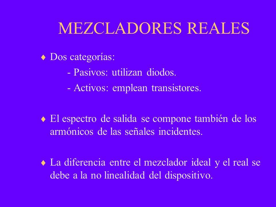 MEZCLADORES REALES Dos categorías: - Pasivos: utilizan diodos.
