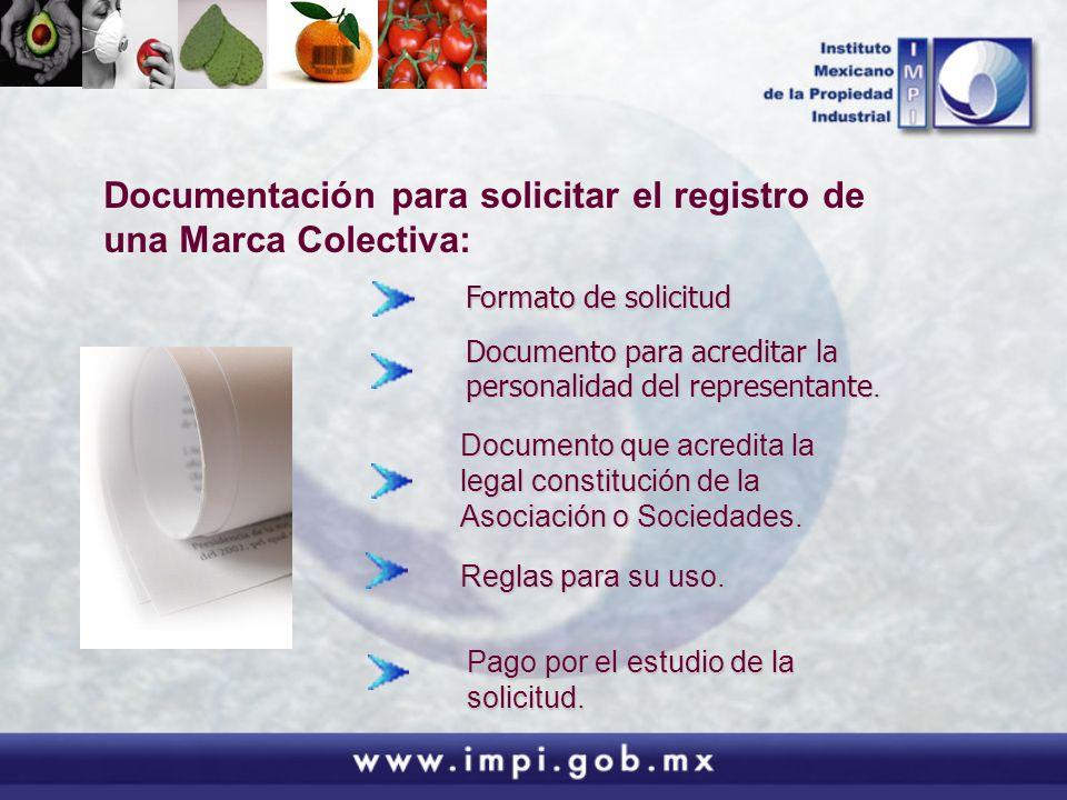 Documentación para solicitar el registro de una Marca Colectiva: