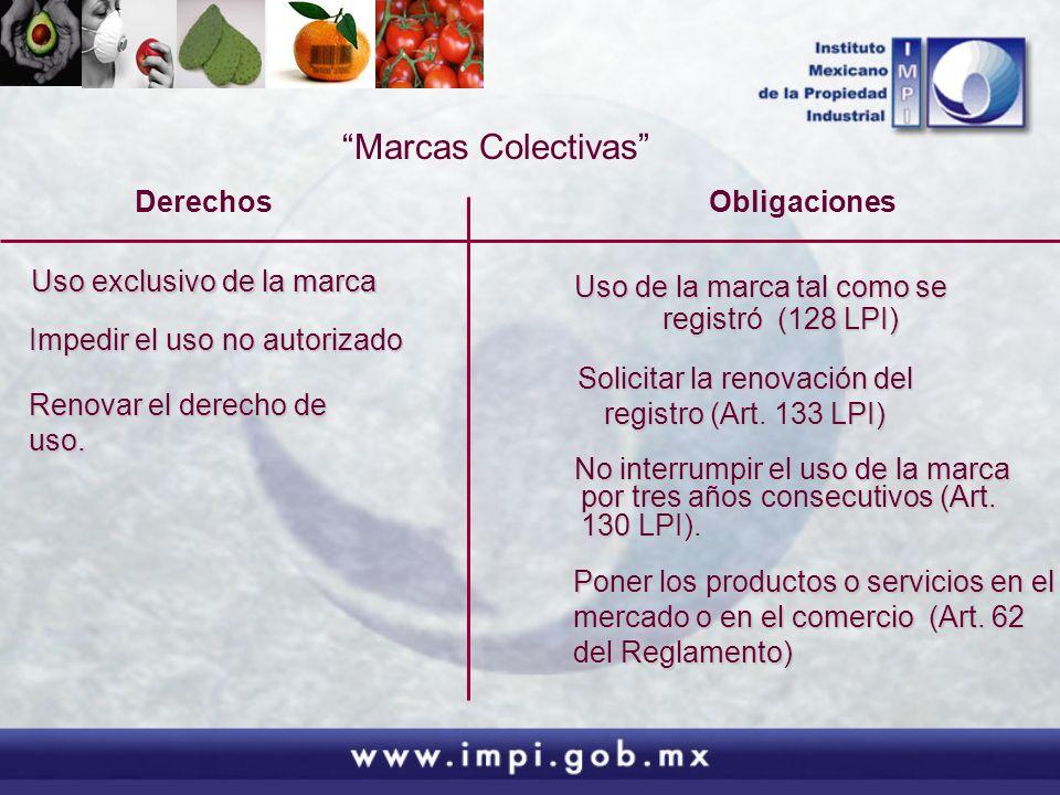 Marcas Colectivas Derechos Impedir el uso no autorizado