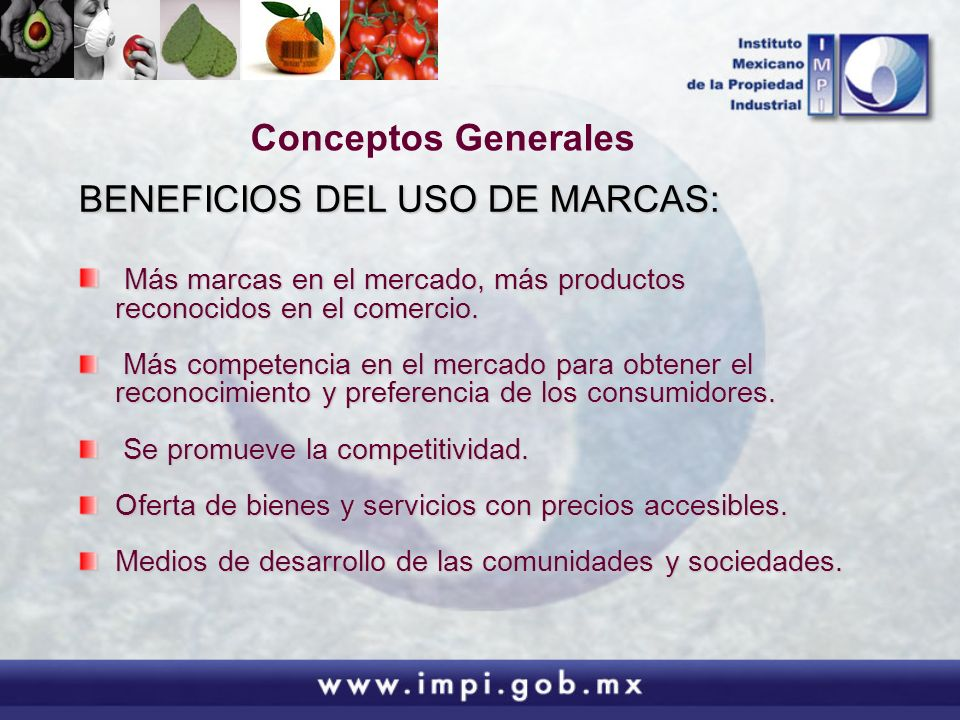 BENEFICIOS DEL USO DE MARCAS:
