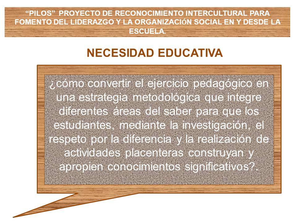 PILOS PROYECTO DE RECONOCIMIENTO INTERCULTURAL PARA FOMENTO DEL LIDERAZGO Y LA ORGANIZACIÓN SOCIAL EN Y DESDE LA ESCUELA.