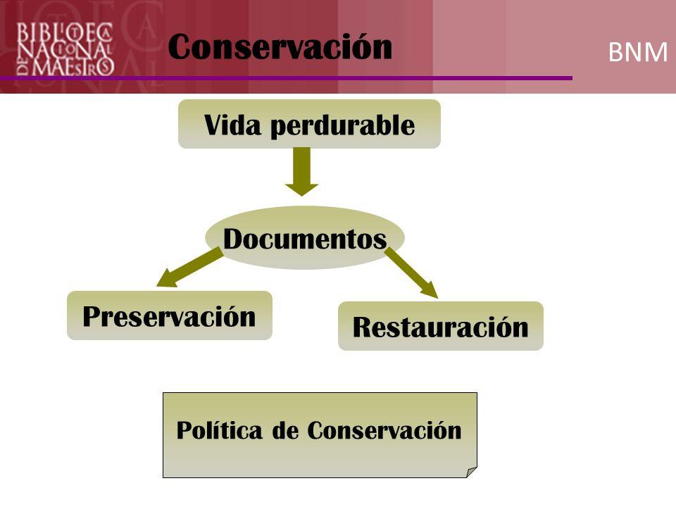 Política de Conservación