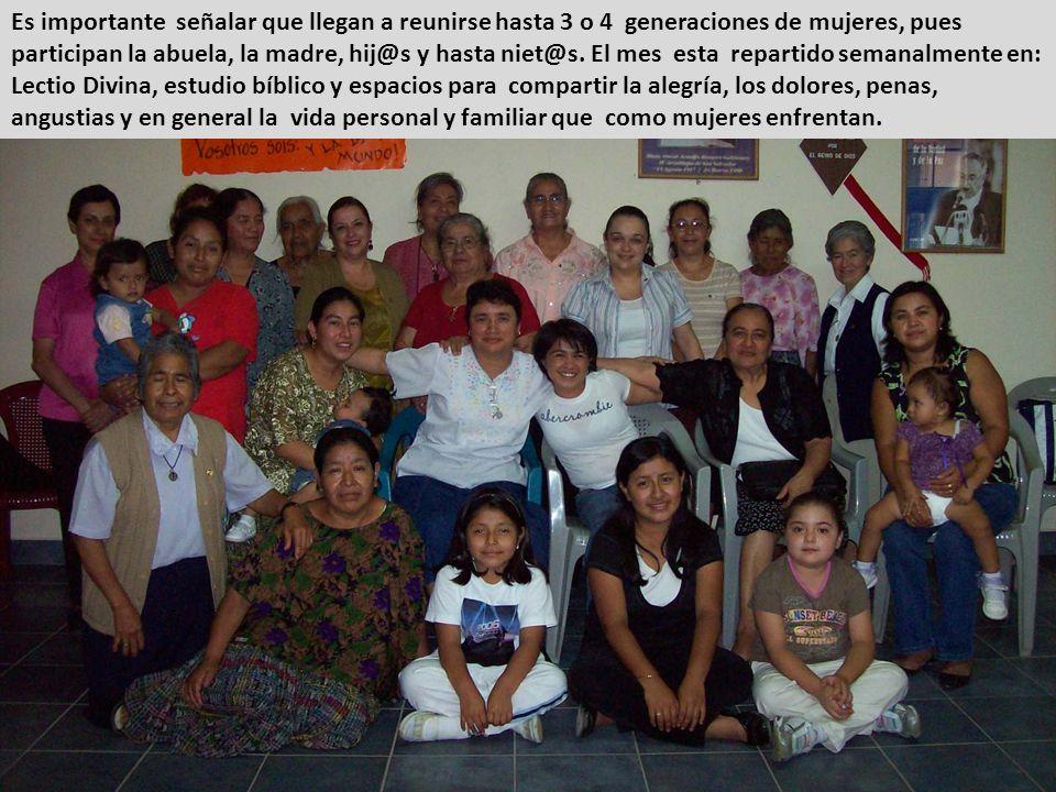 Es importante señalar que llegan a reunirse hasta 3 o 4 generaciones de mujeres, pues participan la abuela, la madre, hij@s y hasta niet@s.