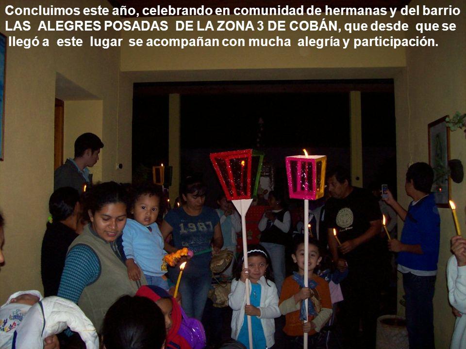 Concluimos este año, celebrando en comunidad de hermanas y del barrio