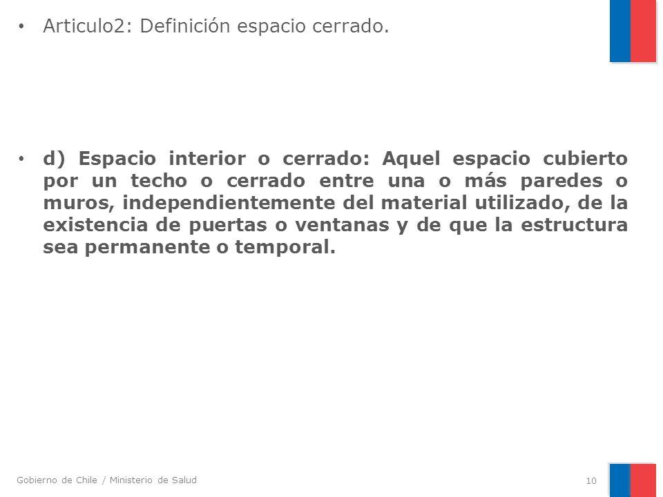 Articulo2: Definición espacio cerrado.