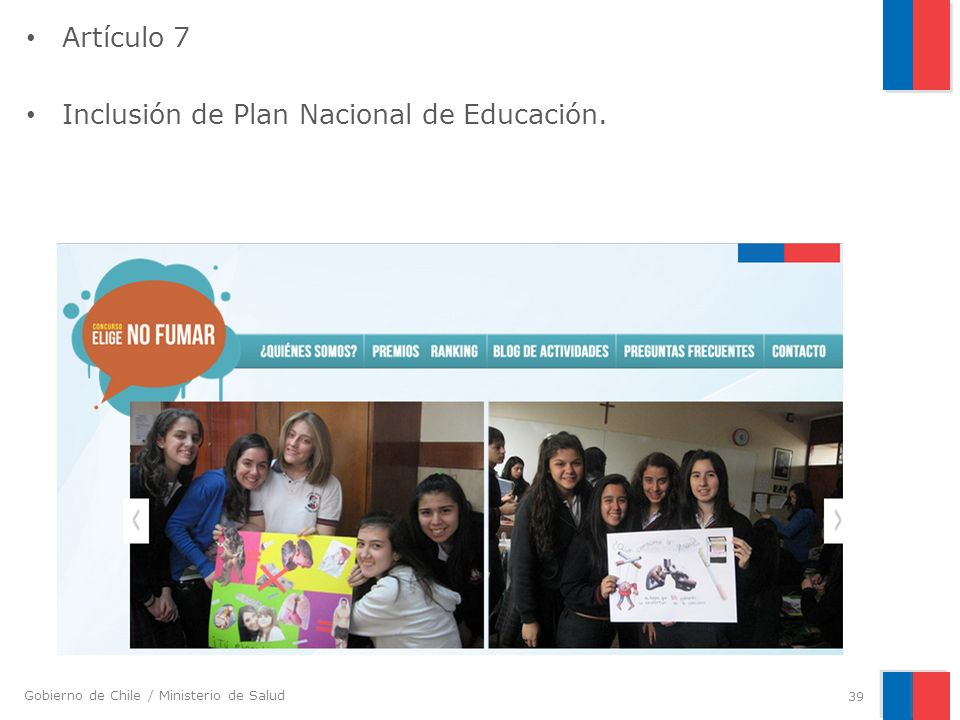 Artículo 7 Inclusión de Plan Nacional de Educación.