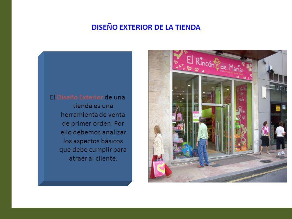 DISEÑO EXTERIOR DE LA TIENDA