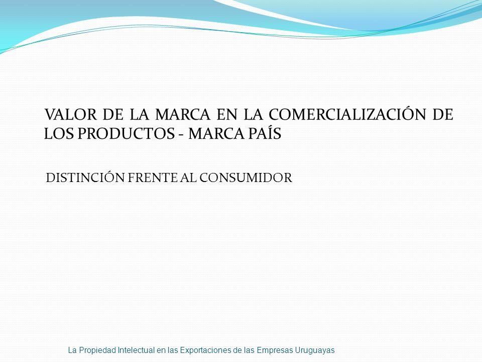 VALOR DE LA MARCA EN LA COMERCIALIZACIÓN DE LOS PRODUCTOS - MARCA PAÍS