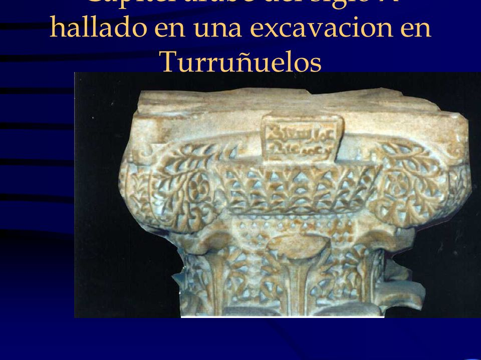 Capitel arabe del siglo X hallado en una excavacion en Turruñuelos