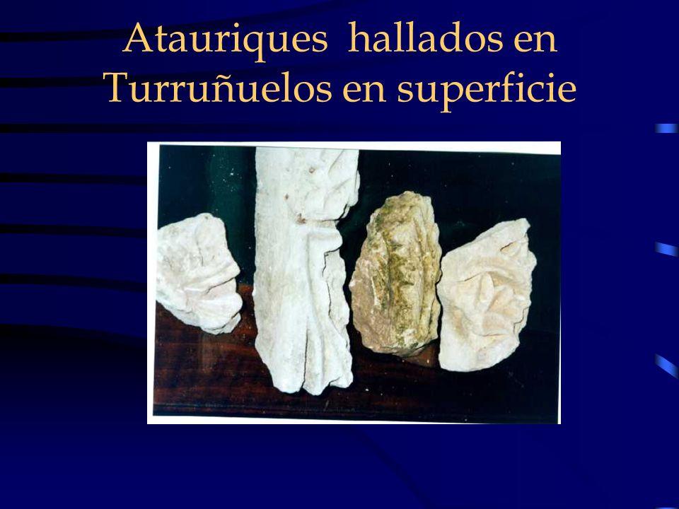 Atauriques hallados en Turruñuelos en superficie