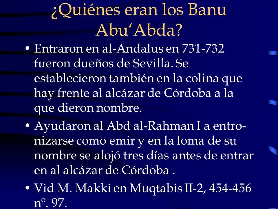 ¿Quiénes eran los Banu Abu'Abda