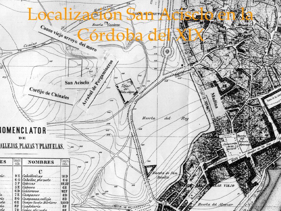Localización San Acisclo en la Córdoba del XIX
