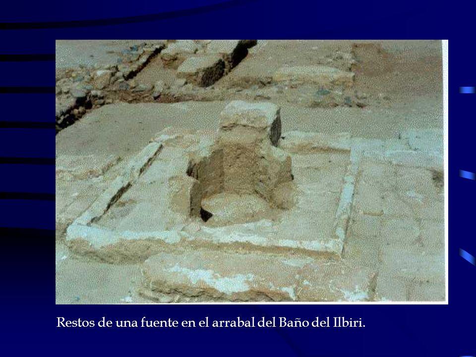 Restos de una fuente en el arrabal del Baño del Ilbiri.