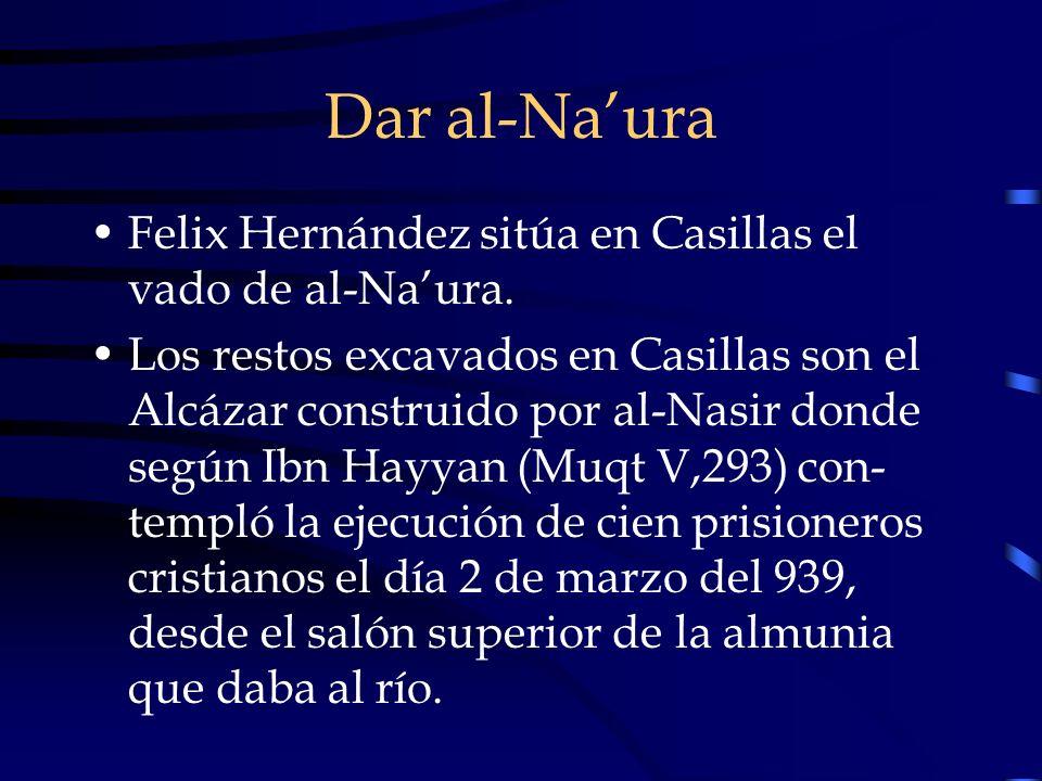 Dar al-Na'ura Felix Hernández sitúa en Casillas el vado de al-Na'ura.