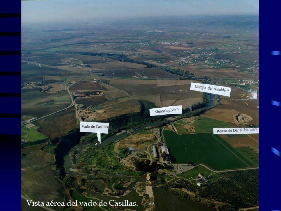 Vista aérea del vado de Casillas.