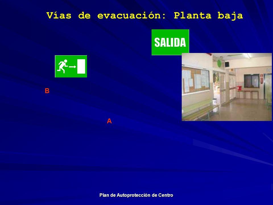 Vías de evacuación: Planta baja Plan de Autoprotección de Centro