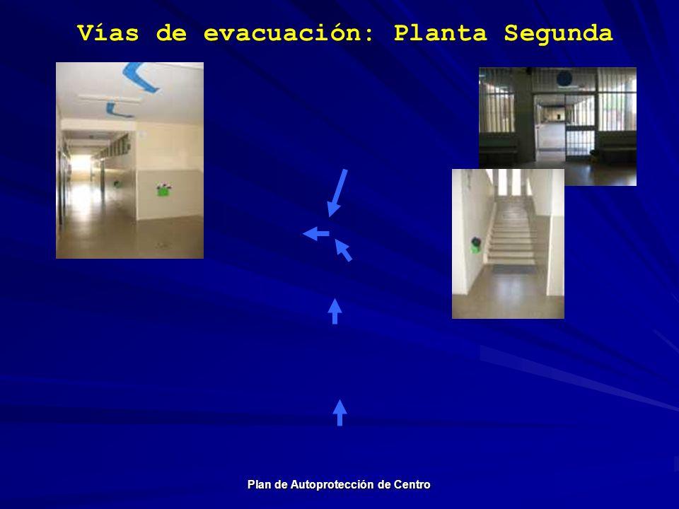 Vías de evacuación: Planta Segunda Plan de Autoprotección de Centro