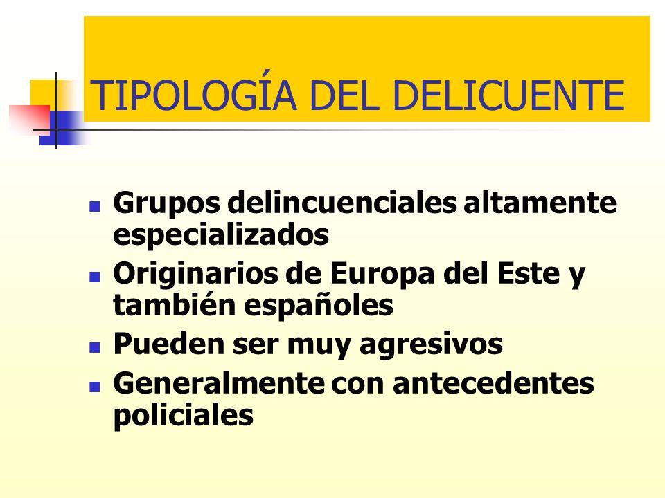 TIPOLOGÍA DEL DELICUENTE