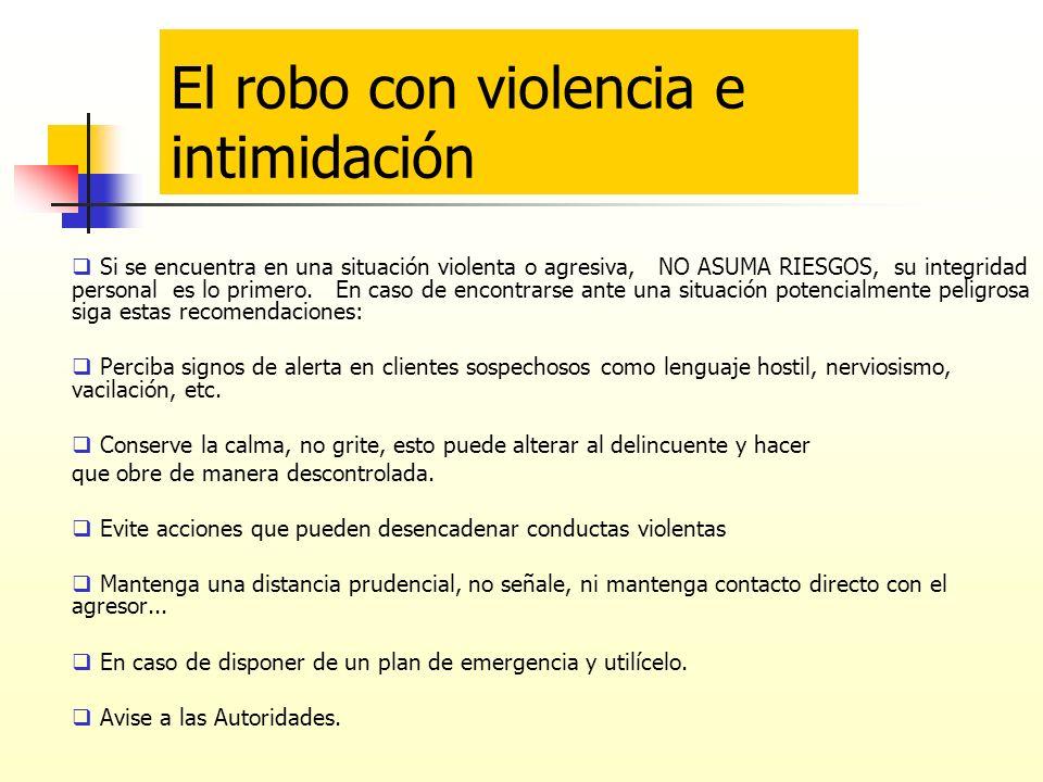 El robo con violencia e intimidación