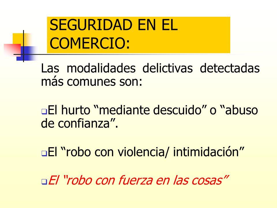 SEGURIDAD EN EL COMERCIO: