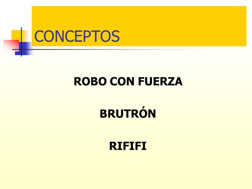 CONCEPTOS ROBO CON FUERZA BRUTRÓN RIFIFI