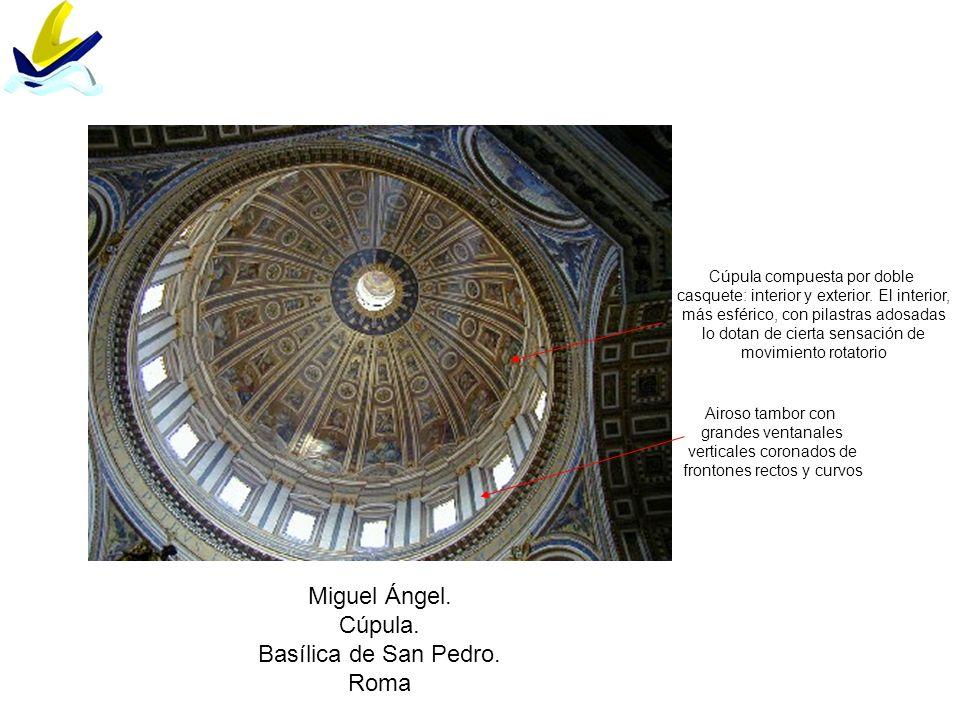 Miguel Ángel. Cúpula. Basílica de San Pedro. Roma
