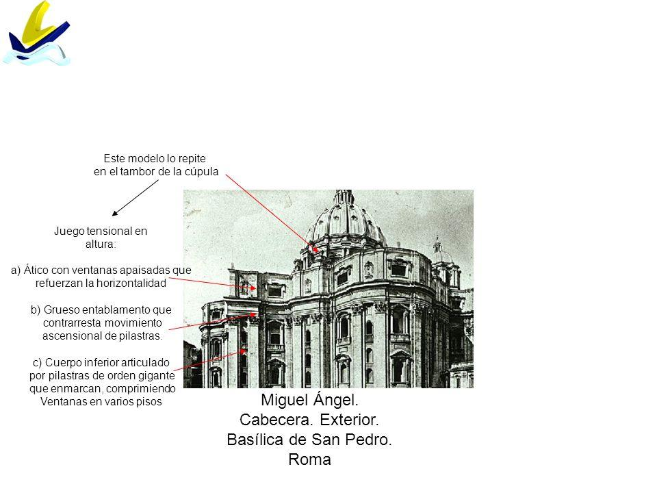 Miguel Ángel. Cabecera. Exterior. Basílica de San Pedro. Roma