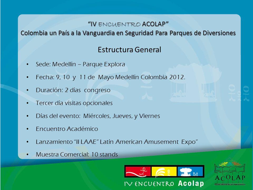 IV ENCUENTRO ACOLAP Colombia un País a la Vanguardia en Seguridad Para Parques de Diversiones