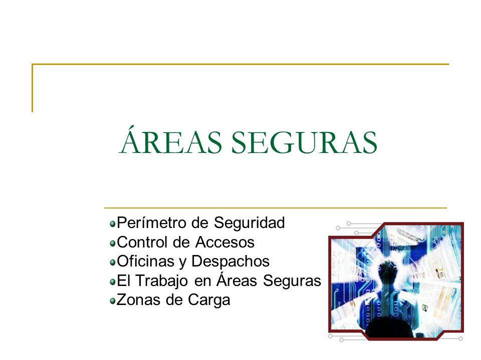 ÁREAS SEGURAS Perímetro de Seguridad Control de Accesos