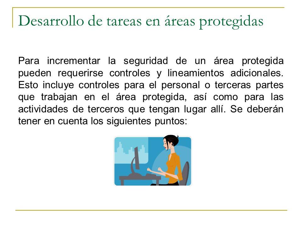 Desarrollo de tareas en áreas protegidas