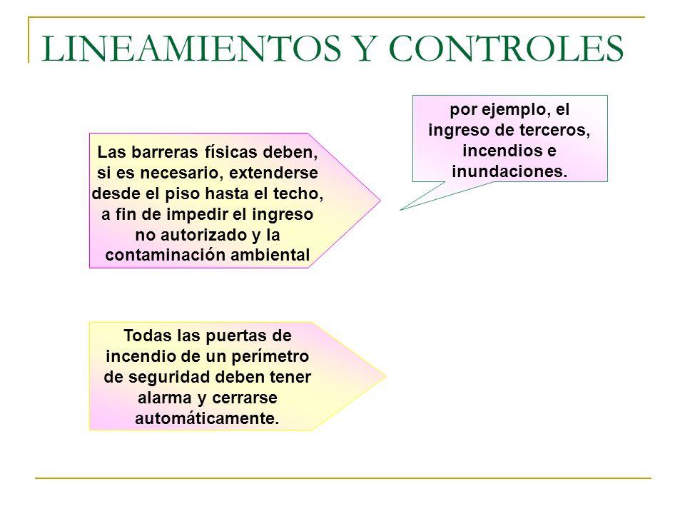 LINEAMIENTOS Y CONTROLES