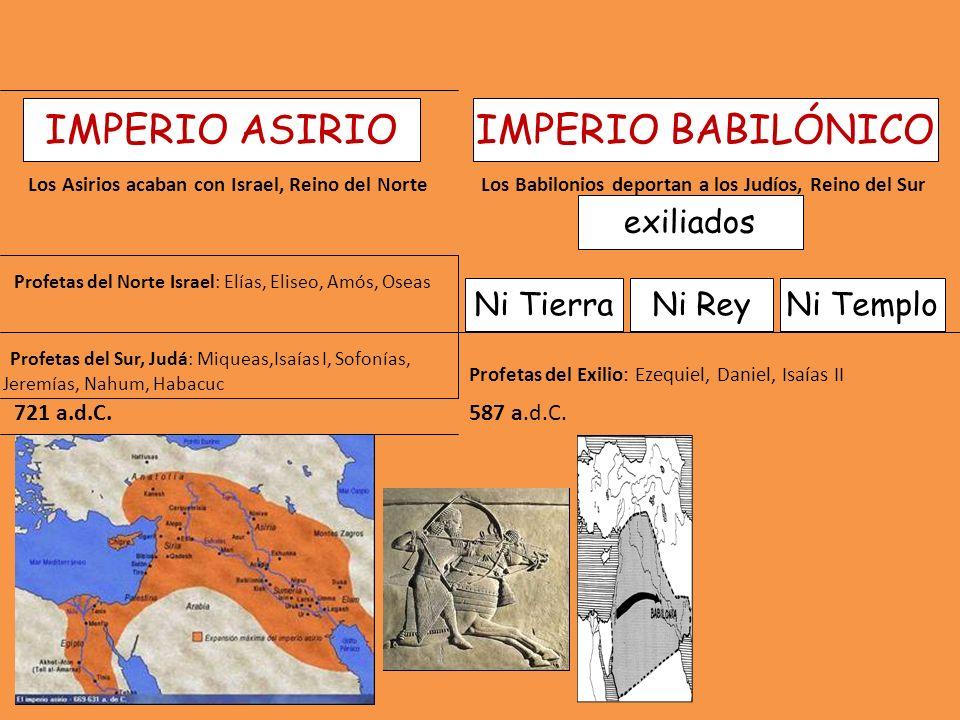 IMPERIO ASIRIO IMPERIO BABILÓNICO exiliados Ni Tierra Ni Rey Ni Templo