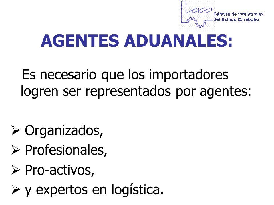AGENTES ADUANALES: Organizados, Profesionales, Pro-activos,