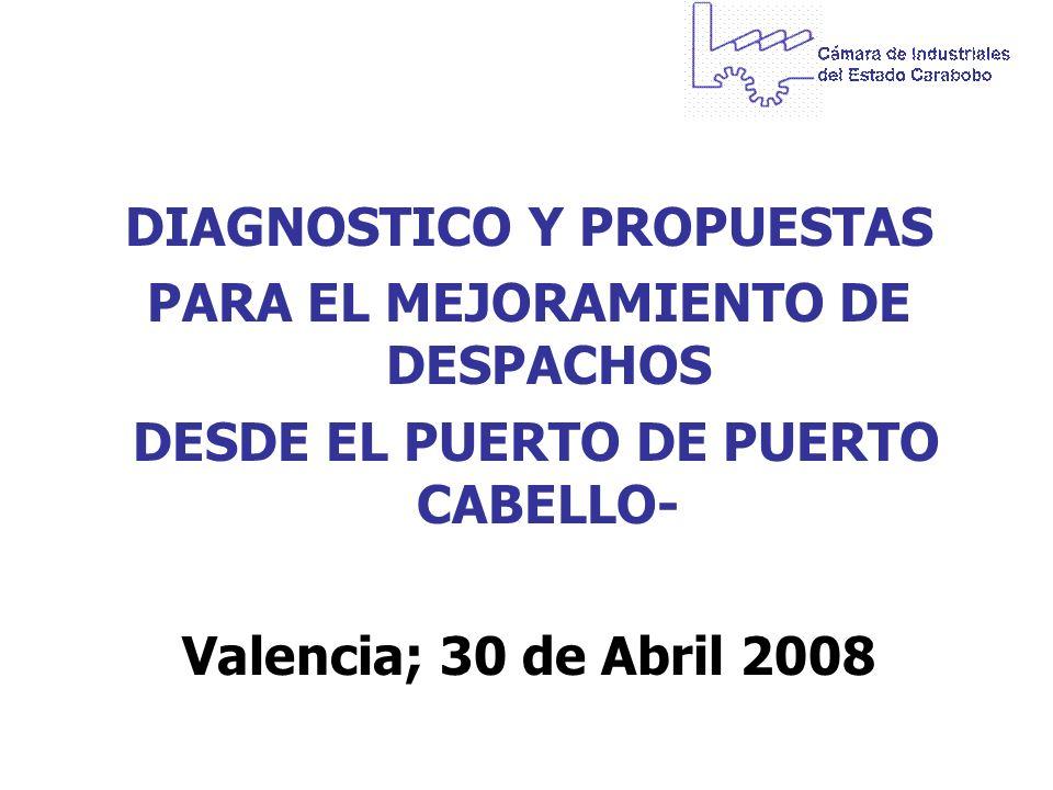 DIAGNOSTICO Y PROPUESTAS PARA EL MEJORAMIENTO DE DESPACHOS