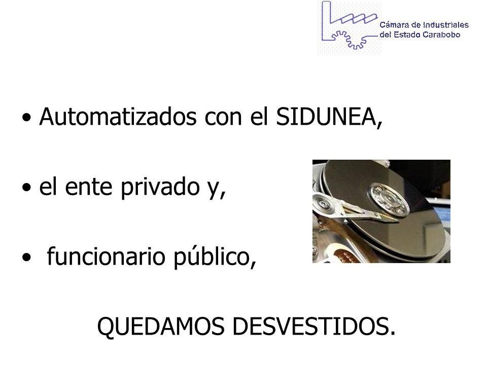 Automatizados con el SIDUNEA,
