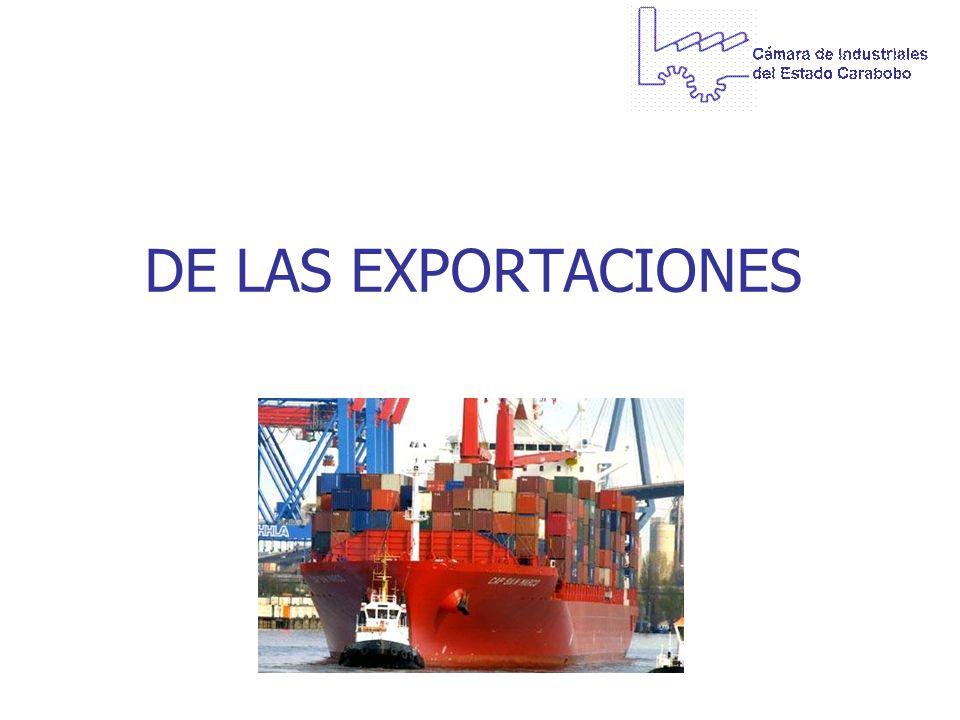 DE LAS EXPORTACIONES