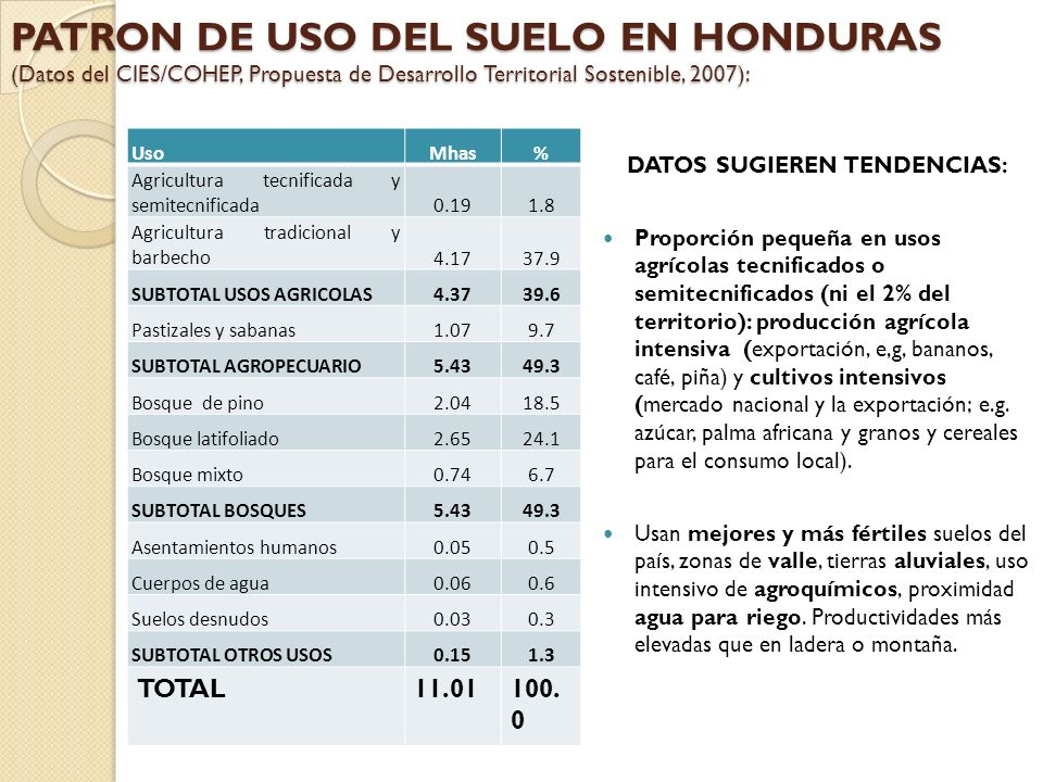 DATOS SUGIEREN TENDENCIAS: