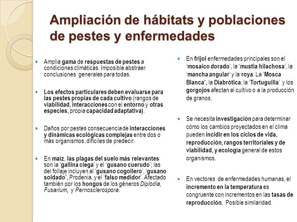 Ampliación de hábitats y poblaciones de pestes y enfermedades
