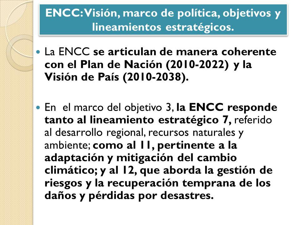 ENCC: Visión, marco de política, objetivos y lineamientos estratégicos.