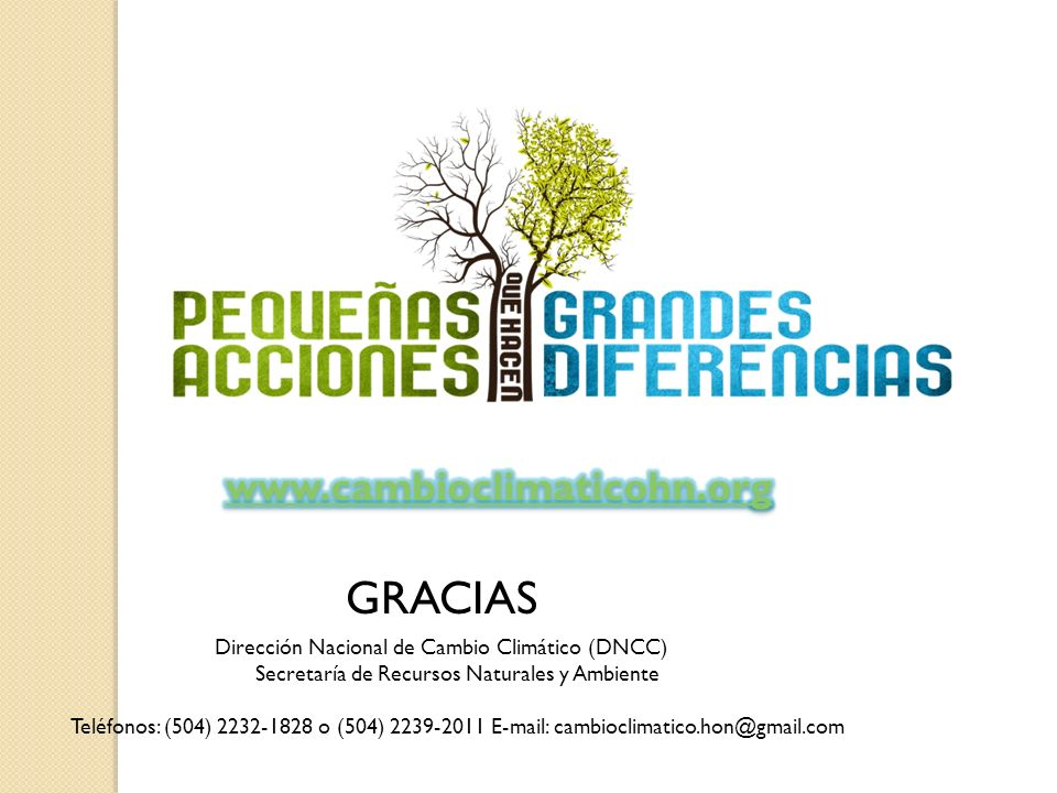 GRACIAS www.cambioclimaticohn.org